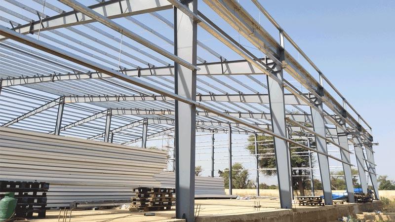 اجرای اسکلت فلزی ساختمان